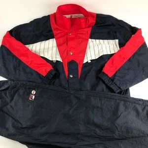 Vintage 90s Fila Full Tracksuit Jacket and Pants